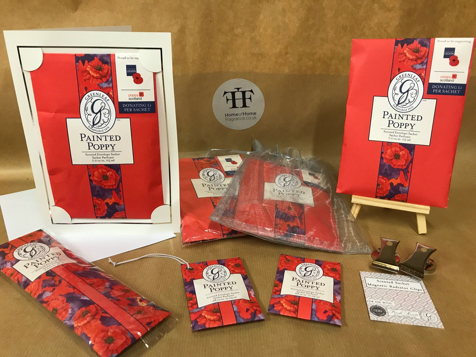 - Painted Poppy Gift Box - Supporting The Royal British Legion