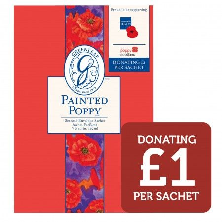 - Painted Poppy Large Scented Sachet - Donating £1 to The Royal British Legion