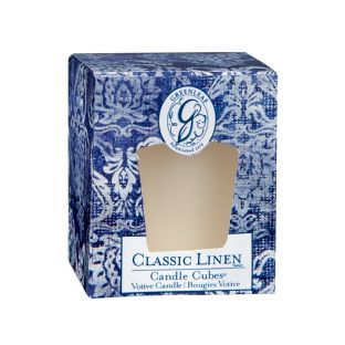 Greenleaf Boxed Votives Classic Linen
