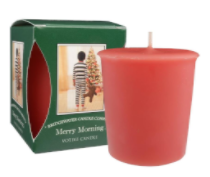 Merry Morning Boxed Votive Candle