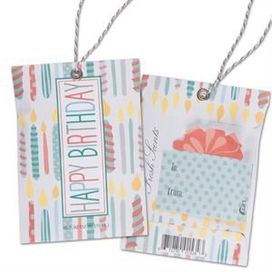 Scented Gift Tag - Happy Birthday