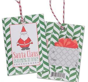 Scented Gift Tag - Santa Claus