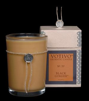 VOTIVO AROMATIC BOXED JAR CANDLE Black Ginger