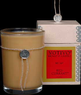VOTIVO AROMATIC BOXED JAR CANDLE - Red Currant