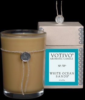 VOTIVO AROMATIC BOXED JAR CANDLE White Ocean Sands