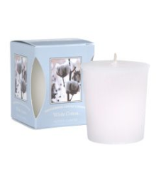 White Cotton Boxed Votive Candles